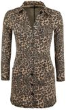 Leopard-Print Denim Dress