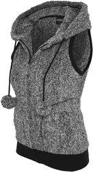Ladies Melange Teddy Vest