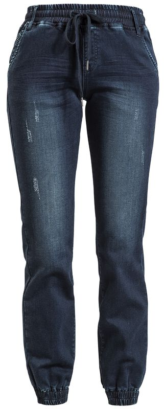 Casual-Cut Dark Blue Jeans