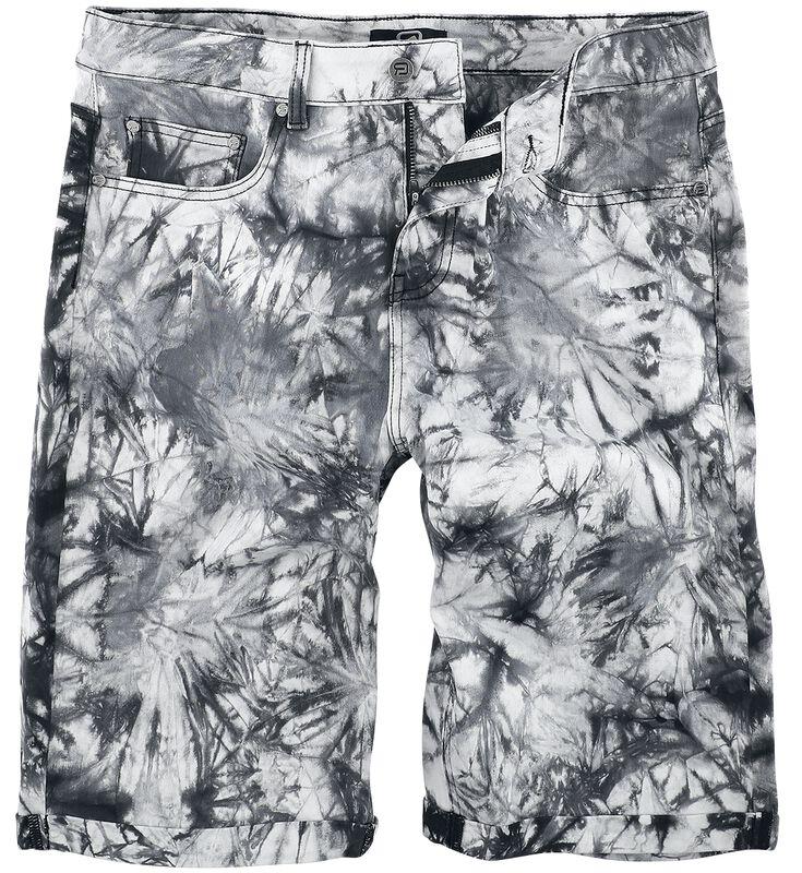White/Black Shorts with Wash