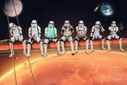 Original Stormtrooper Stormtroopers on Girder