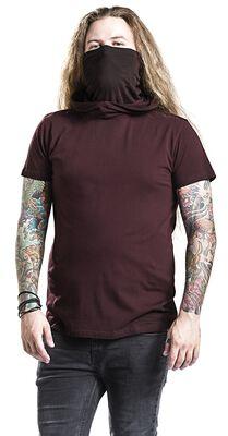 T-shirt with hood and multifunctional Turtleneck