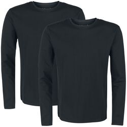 Double Pack Black Long-Sleeves with Crew Neckline