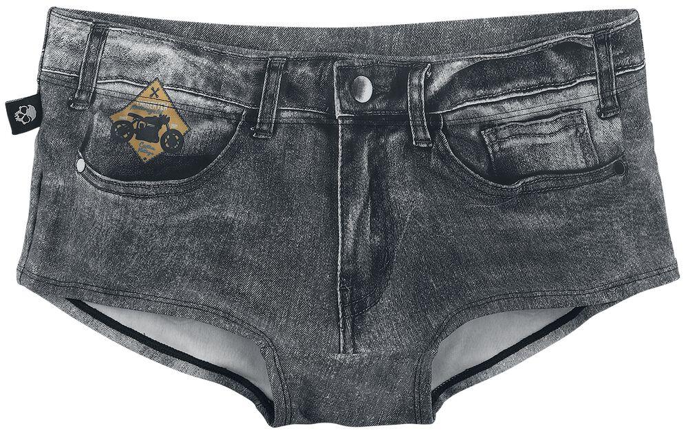 Dark Grey Bikini Bottoms in Jeans Look