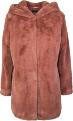 Ladies Hooded Teddy Coat